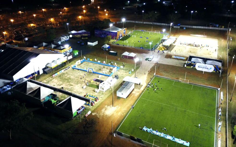 Evento 'Futebol City' monta arena com 14 atividades simultâneas no Parque da Cidade em Brasília (Foto: Futebol City/Divulgação)
