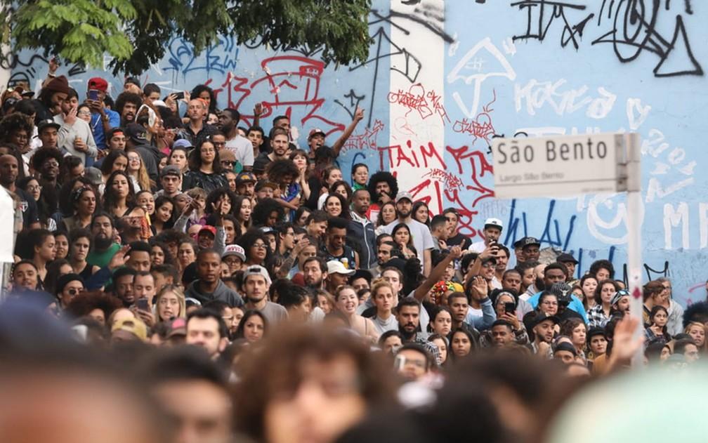 Público durante a Virada Cultural — Foto: Fábio Tito/G1