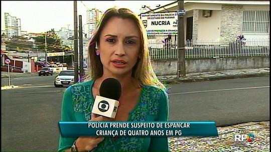 Jovem é preso e adolescente apreendida suspeitos de espancar criança de 4 anos em Ponta Grossa