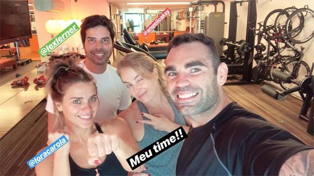 Carolina Dieckmann, Lex Lerner, Chico Salgado e Angélica (Foto: Reprodução/Instagram)