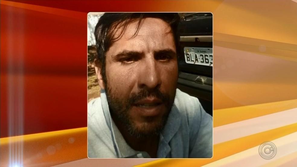 Rodrigo Pereira Alves, de 37 anos, foi preso suspeito de matar universitária de 19 anos em Bariri — Foto: TV TEM/Reprodução