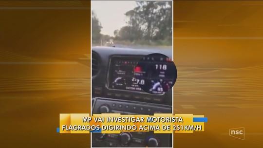 MPSC investiga motoristas que se filmaram a mais de 250 km/h na SC-157