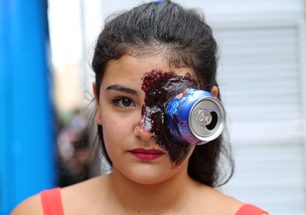 Não faltou criatividade na Zombie (Foto: Giuliano Gomes/PR Press)