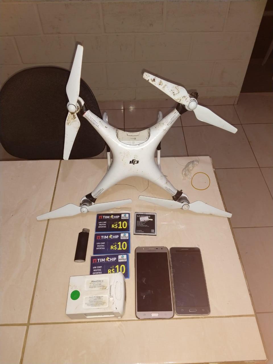 Agentes apreendem drone que levava celulares para Cadeia Pública de Ponta Grossa