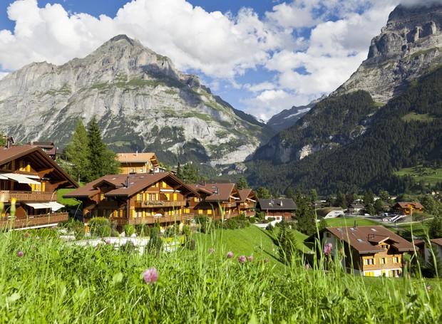 Vilarejo grindelwald, na Suíça (Foto: Thinkstock)