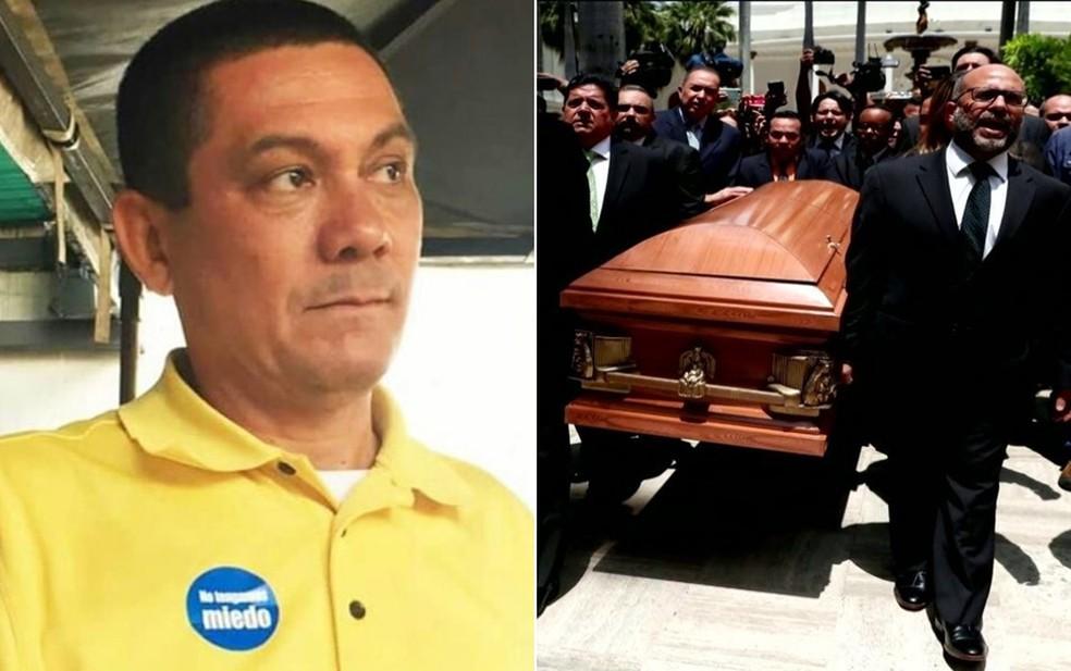 Brasil, ONU e União Europeia pedem à Venezuela investigação sobre morte de opositor — Foto: Reprodução/Twitter/Fernando Albán; Reprodução/TV Globo