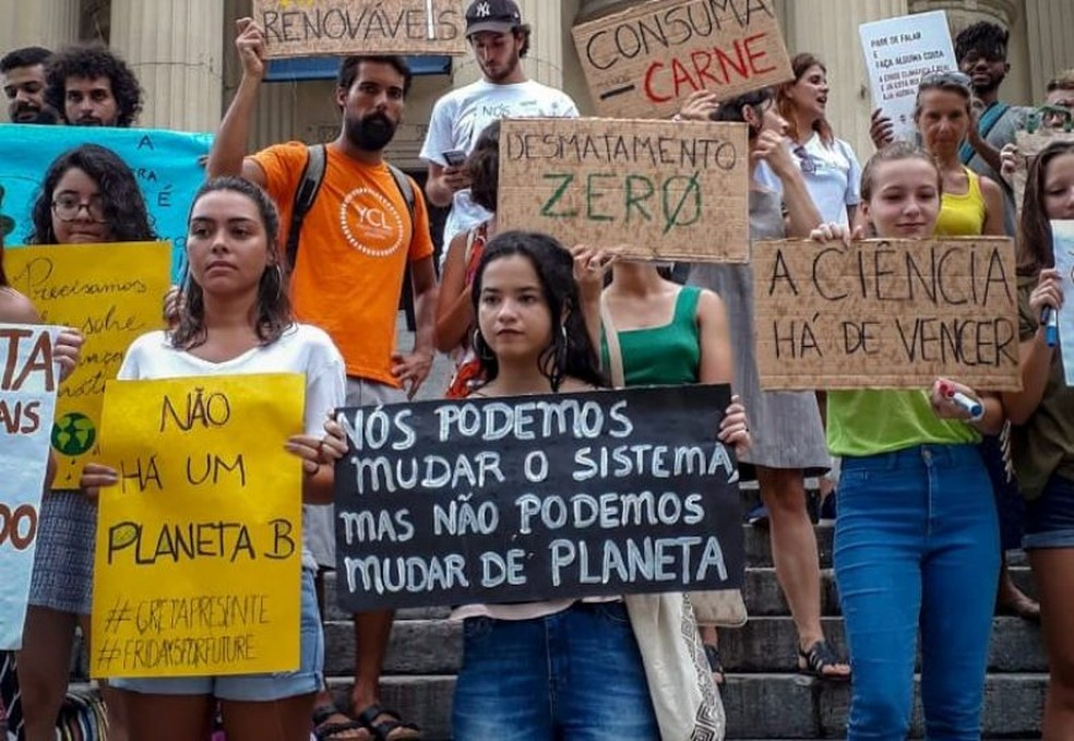 Mais de 20 cidades participam do Fridays for Future — Foto: Marcio Isensee e Sá