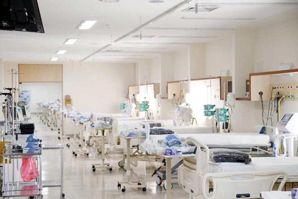 Leitos de UTI no Hospital Regional de Santa Maria, no DF  — Foto: Iges-DF/Divulgação