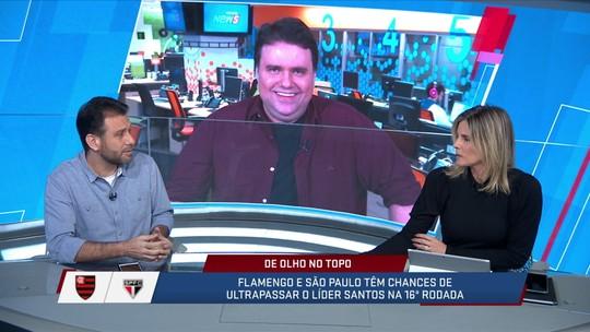 Mesa do SporTVNews debate qual time tem mais chance de roubar a liderança do Santos