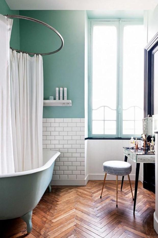 10 banheiros com paredes bicolores (Foto: Divulgação)