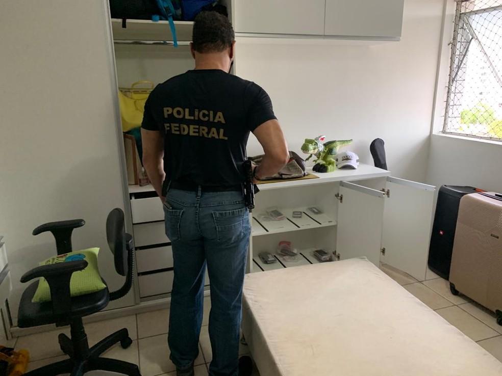 Quatro mandados de busca e apreensão foram expedidos nesta quinta-feira (11) — Foto: Polícia Federal/Divulgação