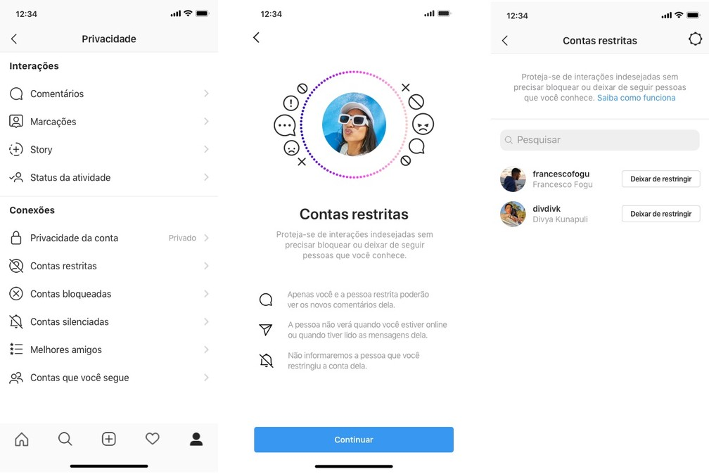 Ferramenta vai permitir que usuários do Instagram possam restringir comentários maldosos — Foto: Reprodução/Instagram