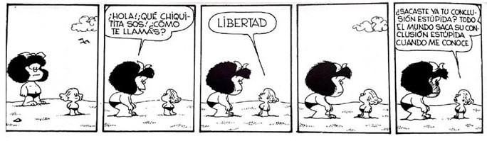 Tirinha da Mafalda em espanhol (Foto: Divulgação)