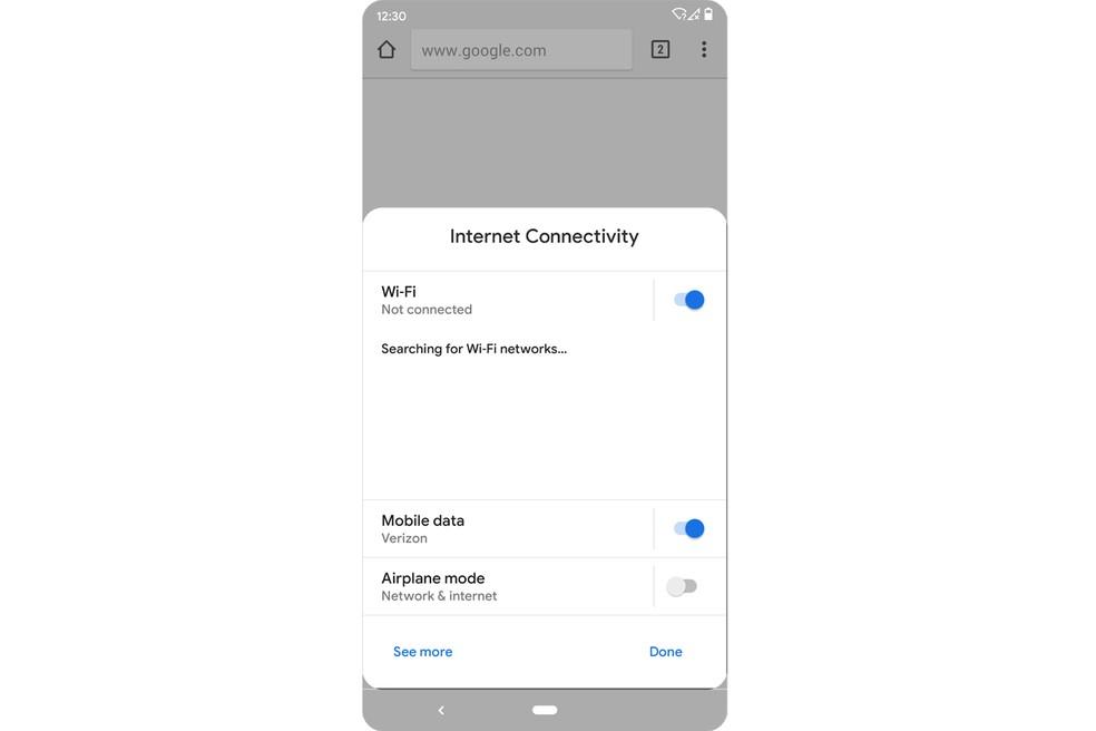 Painel de configurações poderá ser acessado dentro de apps — Foto: Divulgação/Google