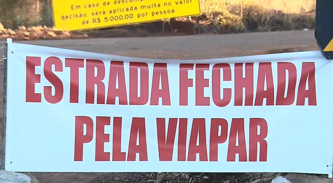 Agricultores relatam prejuízo após Justiça determinar fechamento de estrada próxima ao pedágio, entre Marialva e Mandaguari