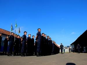 Batalhão da PM em  Jaru, RO (Foto: Jaru Online/Reprodução)