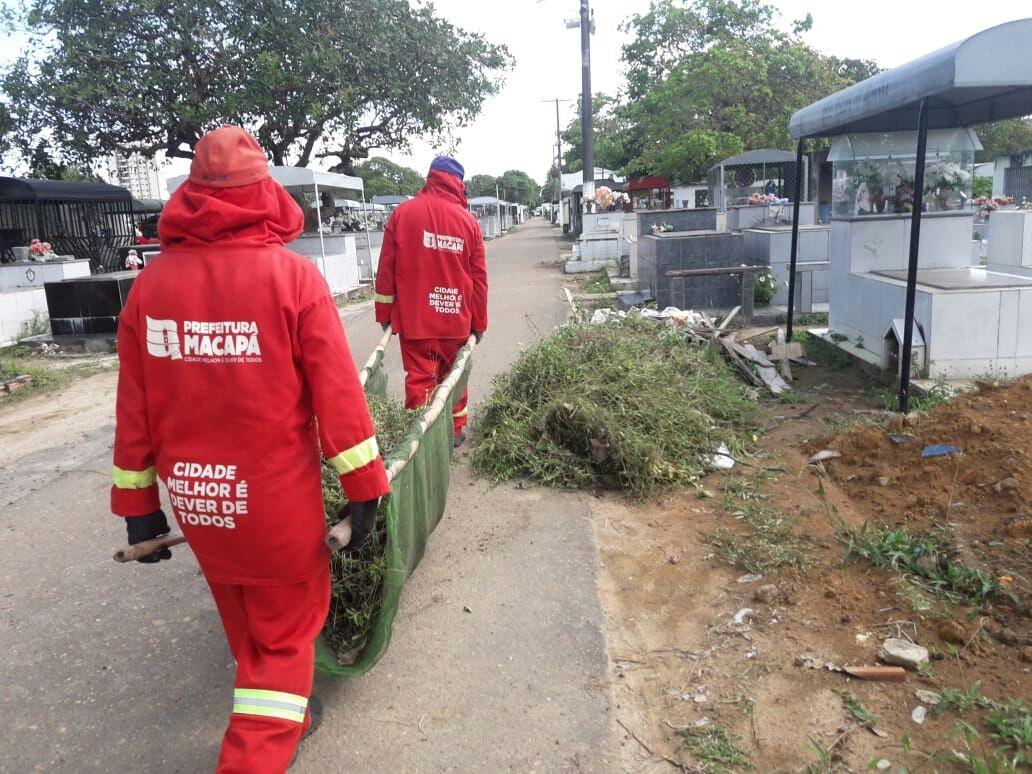 Mutirão realiza limpeza e manutenção de cemitérios em Macapá para o Dia das Mães