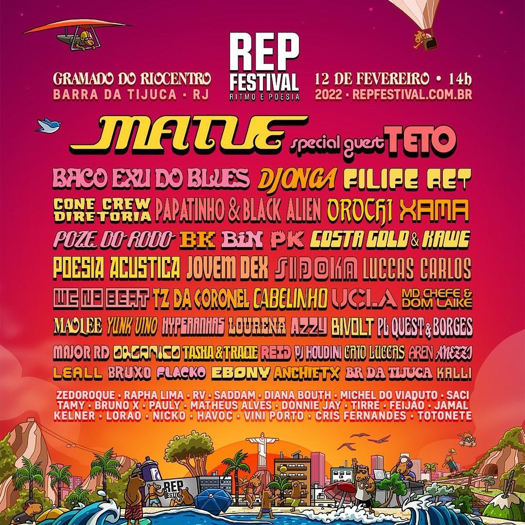 REP Festival 2022 terá Matuê, Baco Exu do Blues e Djonga entre dezenas de atrações