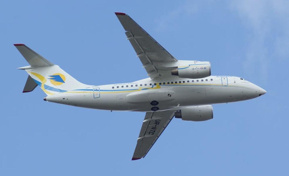 O avião Antonov AN-148, modelo da aeronave da Saratov que caiu na Rússia (Foto: Antonov/Divulgação)