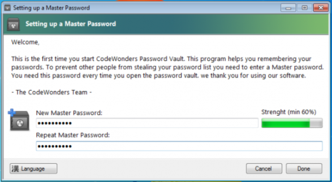 CodeWonders Password Vault | Download | TechTudo