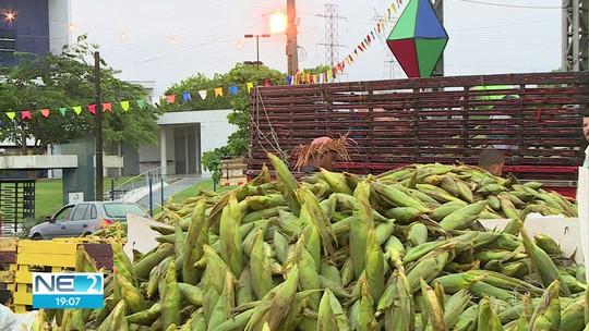 Chuva prejudica venda de milho no Ceasa