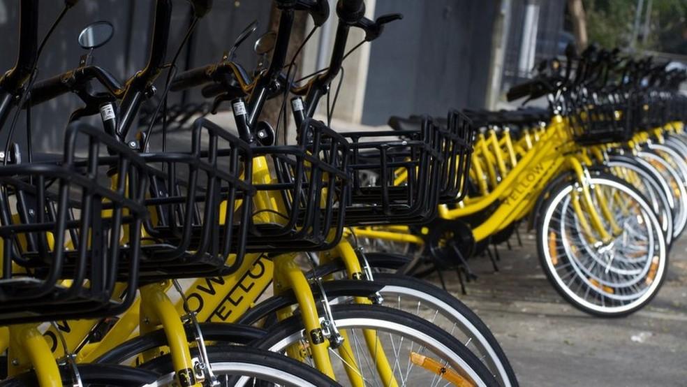 Bicicletas sem estações — Foto: Divulgação/Yellow