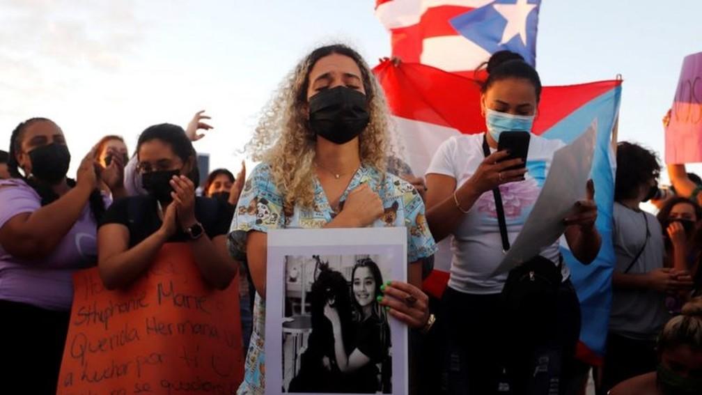A família de Keishla Rodríguez Ortiz relatou seu desaparecimento na noite de quinta-feira passada — Foto: EPA/BBC
