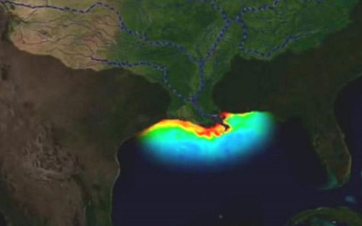 A imensa e crescente zona morta do Golfo do México, onde a vida marinha não sobrevive