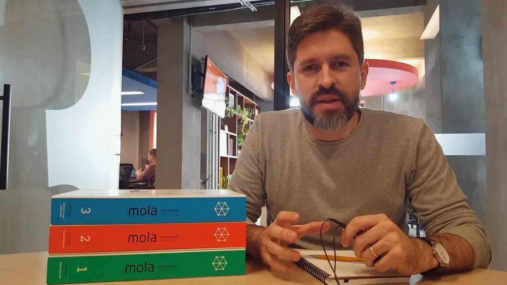 O arquiteto paraense Márcio Sequeira desenvolveu o Kit Estrutural Mola como um projeto de pesquisa de mestrado — Foto: Arquivo pessoal/Márcio Sequeira