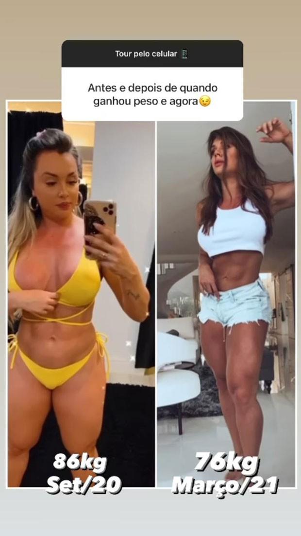 Antes e depois de Juju Salimeni (Foto: Reprodução/Instagram)