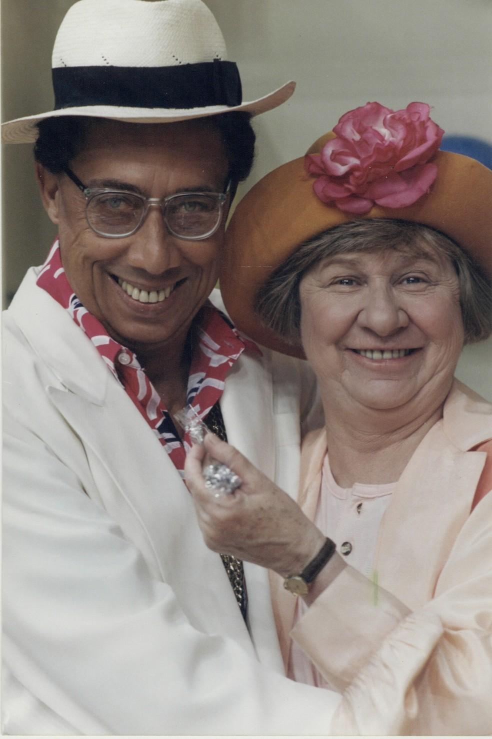 Paulo Silvino e Zilda Cardoso — Foto: Acervo TV Globo