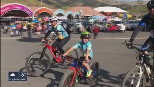 Garoto de 8 anos faz trajeto de Alterosa até o Santuário de Aparecida só de bicicleta
