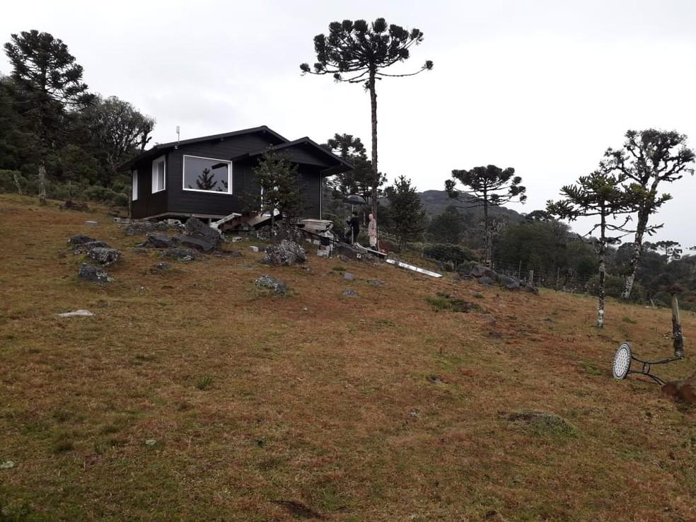 Pousada em Urubici — Foto: Corpo de Bombeiros/Divulgação