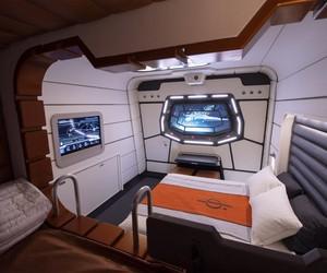 Mais detalhes de uma das cabines do Star Wars: Galactic Starcruiser