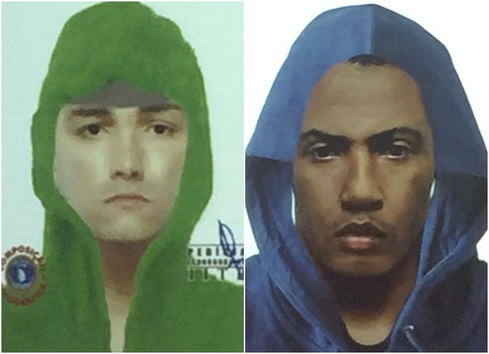 A Polícia Civil divulgou a imagem dos suspeitos na manhã desta segunda-feira (18). (Divulgação/Polícia Civil)  (Foto: )