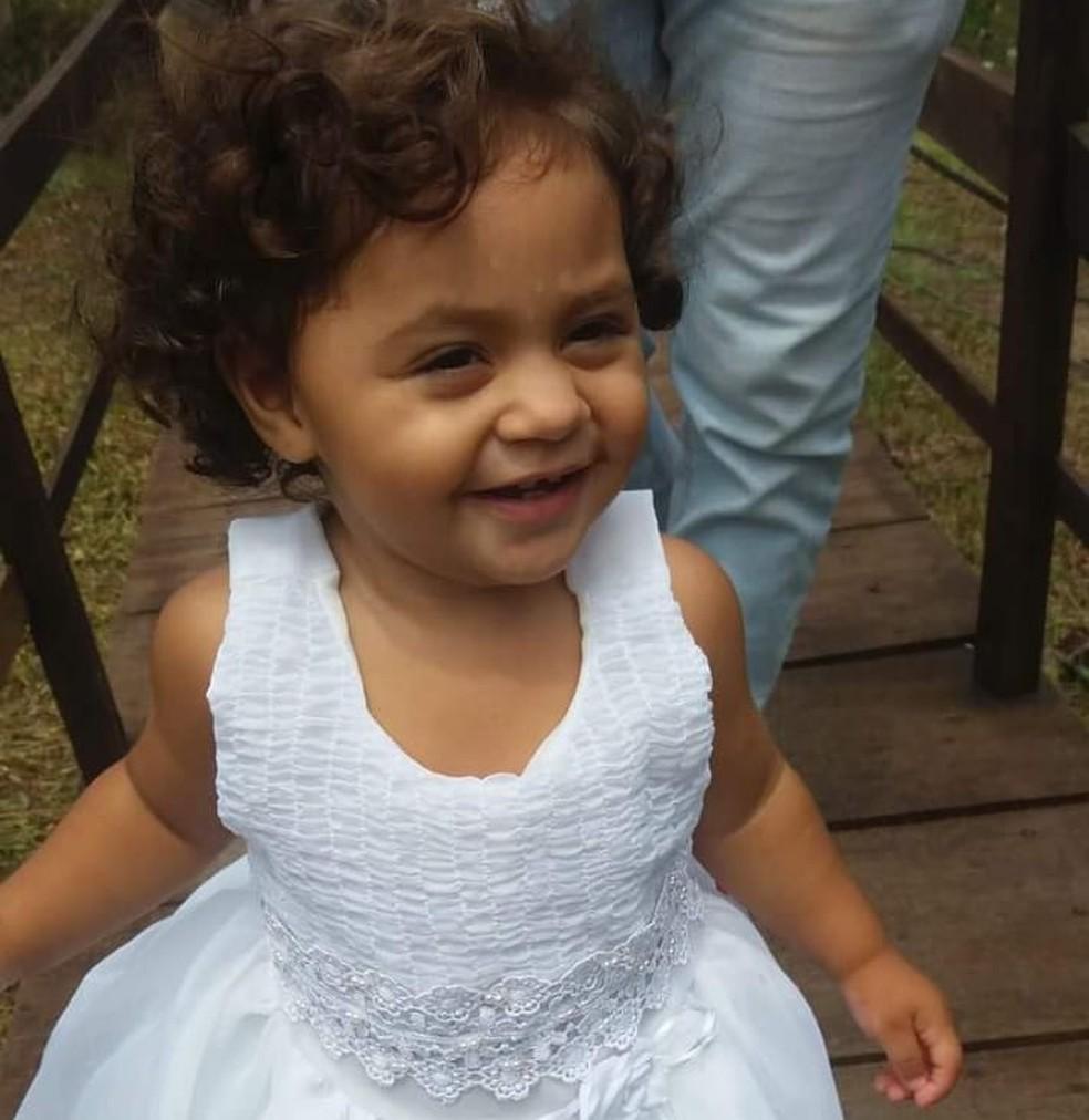Paula Isamara Mendes tinha 2 anos de idade   — Foto: Arquivo da família