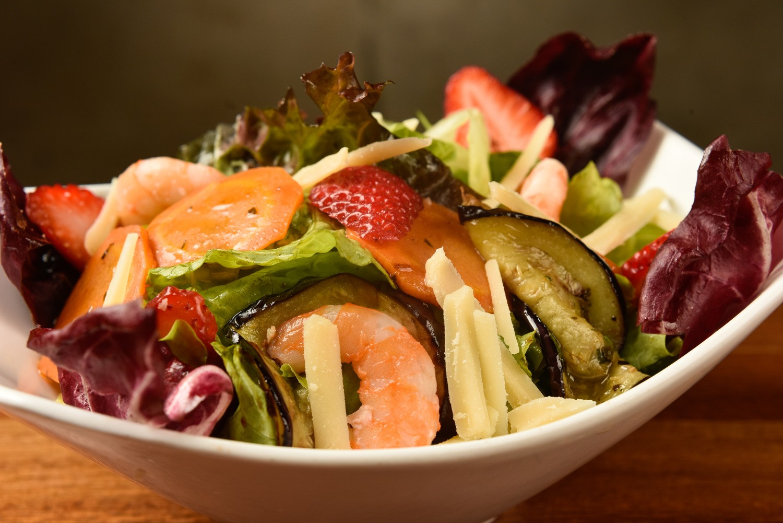 A salada da chef Silvia Paludo (Foto: Bruno de Lima)