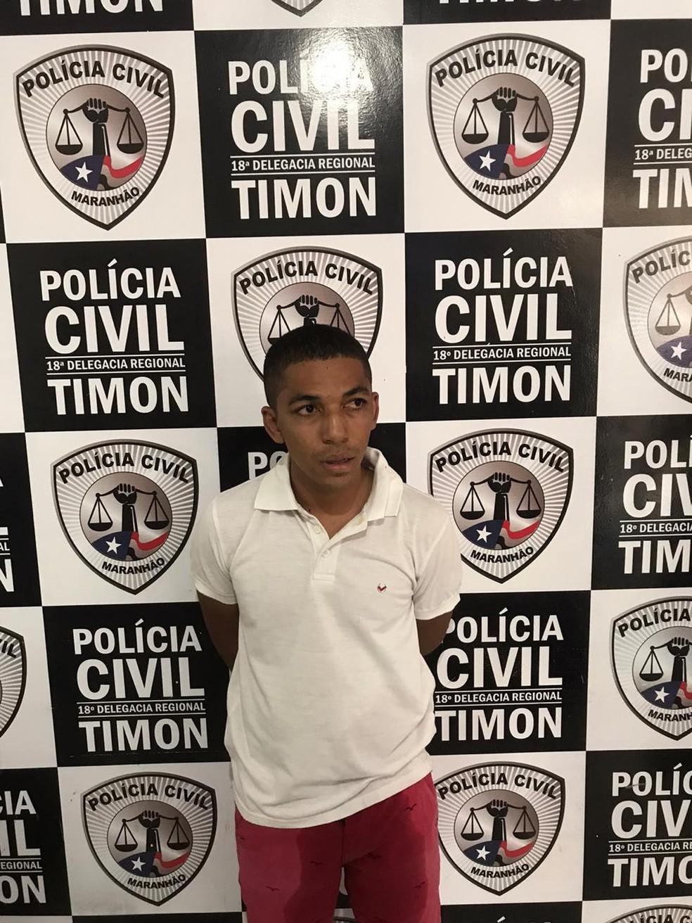 Daniel Sousa Santiago foi encaminhado à Central de Flagrantes de Timon — Foto: Divulgação/Polícia