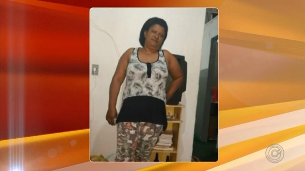 Sandra Mara Ferreira era cuidadora de idosos e foi morta pelo ex-marido (Foto: Reprodução/TV TEM)