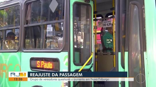 Grupo de vereadores questiona o aumento da passagem em Nova Friburgo