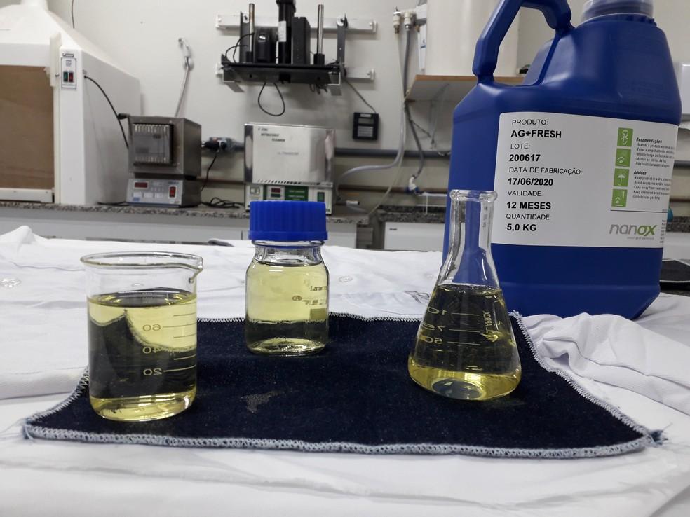 SARS-Cov-2 foi inativado em contato com tecidos tecnológicos — Foto: Divulgação Nanox