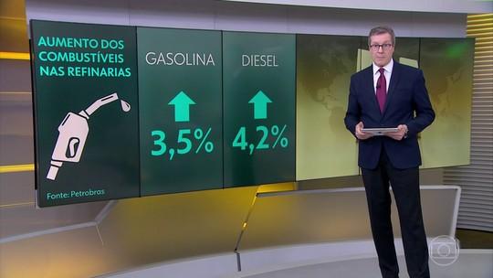 Preços da gasolina e do diesel estão mais caros nas refinarias a partir desta quinta (19)