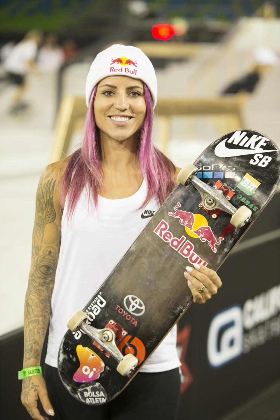 Letícia Bufoni precisa se recuperar no ranking para ir à Tóquio — Foto:  Paulo Macedo/Street League Skateboarding.