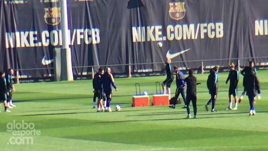 Barça treina no frio com desfalque de Mascherano e caneladas de Mathieu