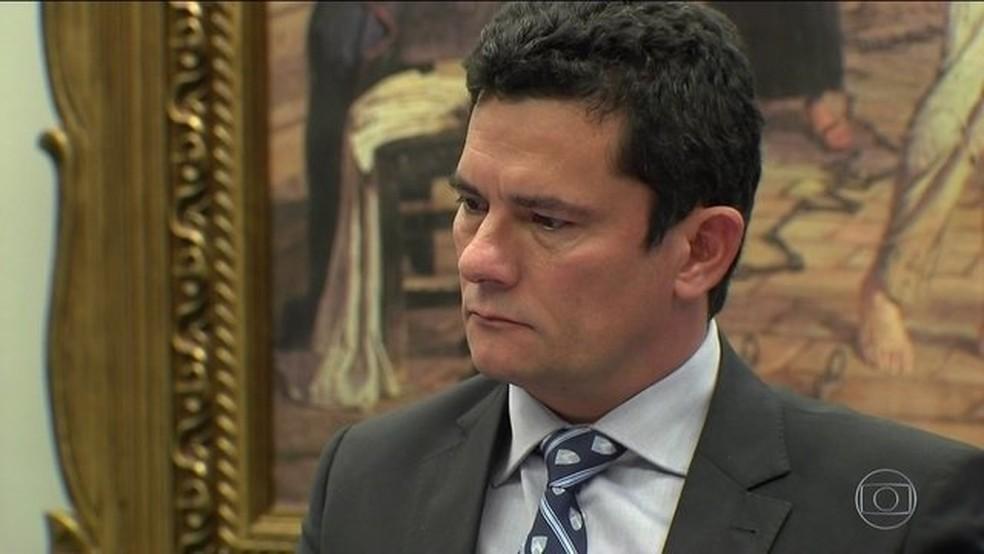 O ministro da Justiça, Sergio Moro — Foto: Reprodução/TV Globo