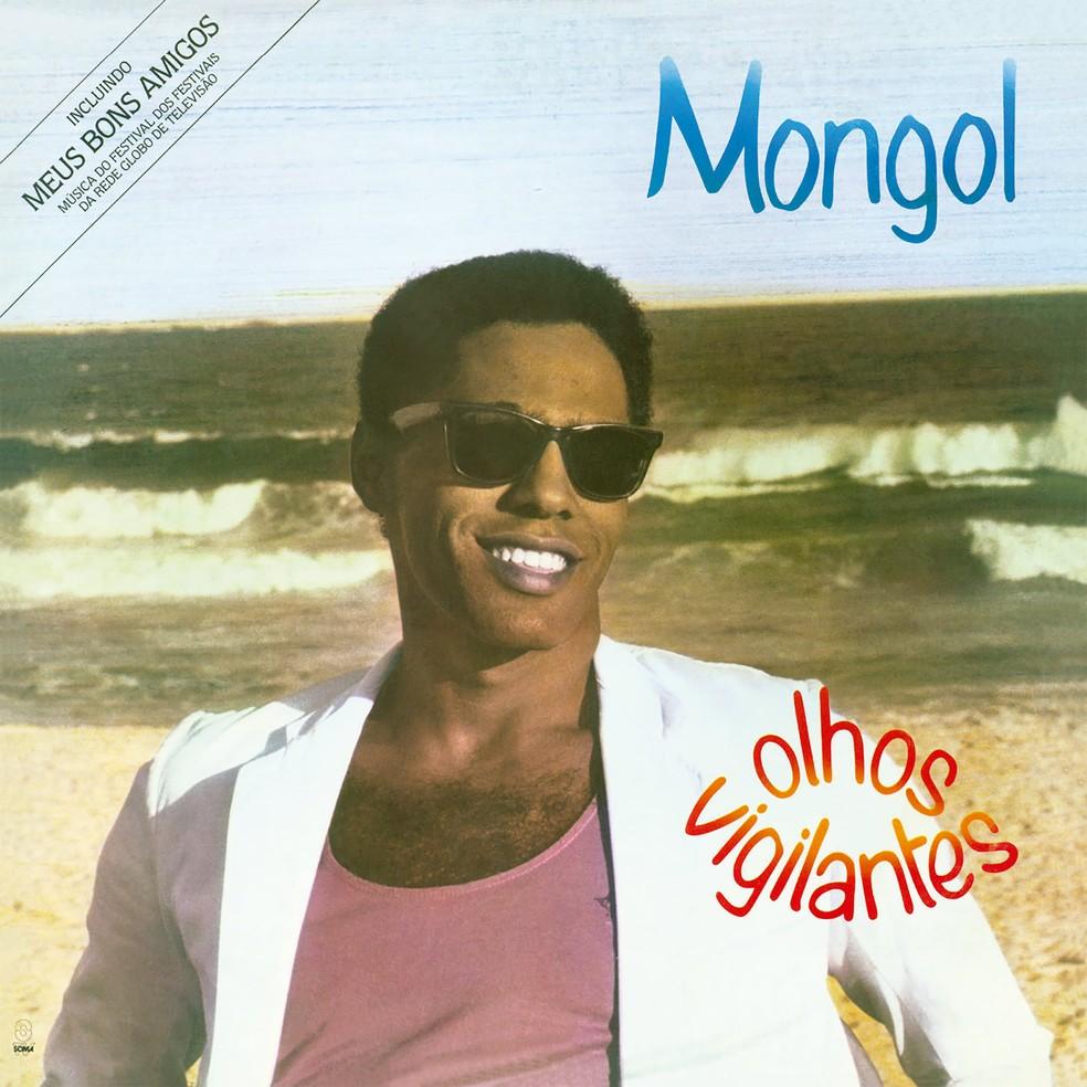 Capa do primeiro álbum de Mongol, 'Olhos vigilantes', lançado em 1985 — Foto: Divulgação