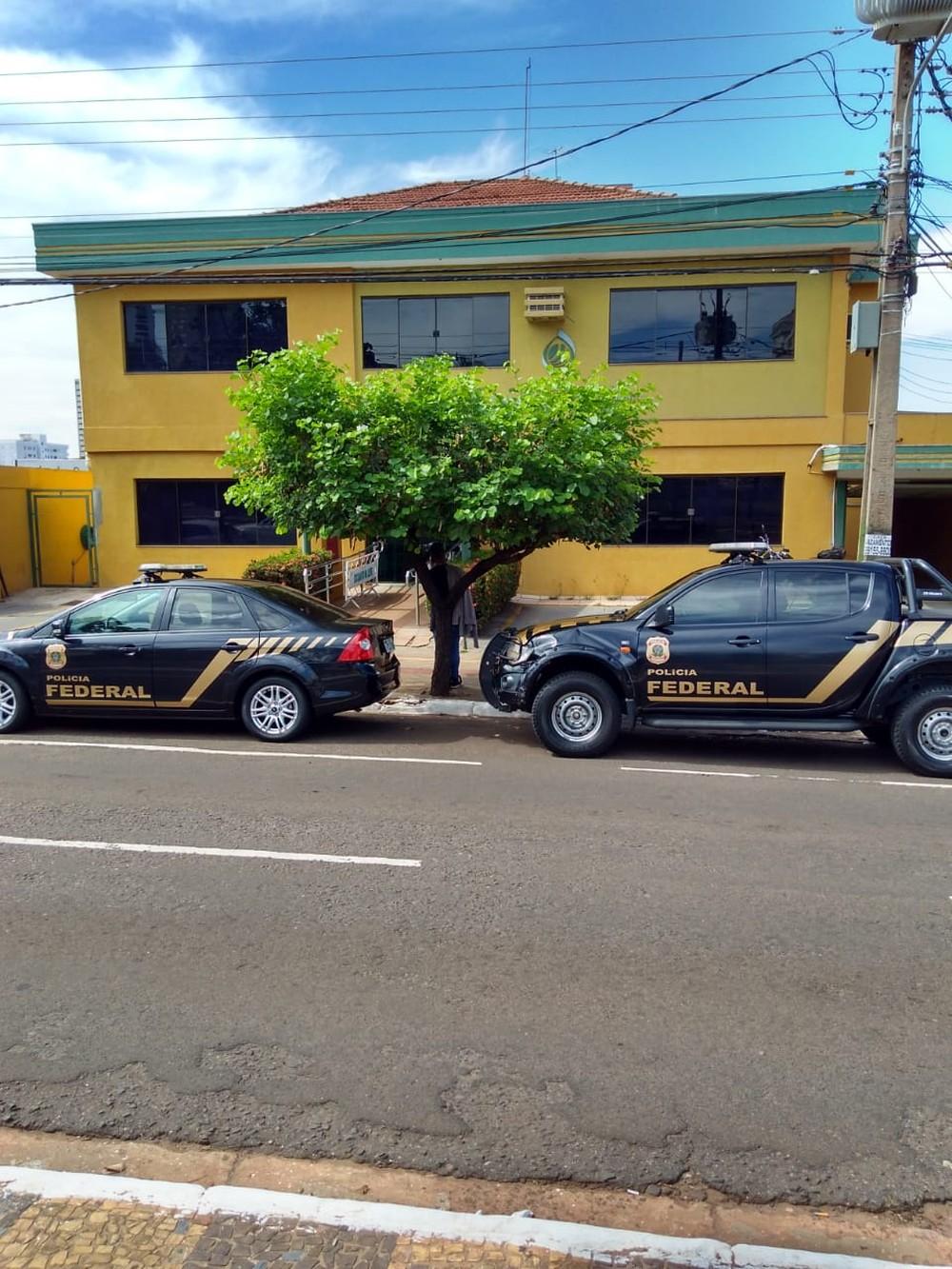 PF faz buscas na Conab, em Campo Grande — Foto: PF/Divulgação