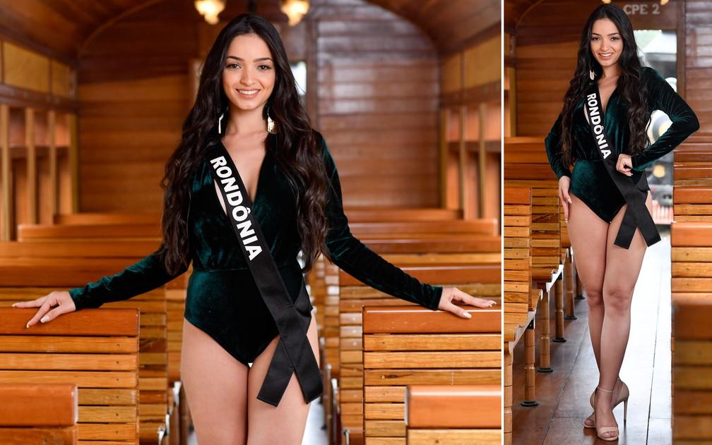 Hunaide Horitham, 23 anos, assistente jurídica, é a Miss Rondônia — Foto: Rodrigo Trevisan/Divulgação/Miss Brasil