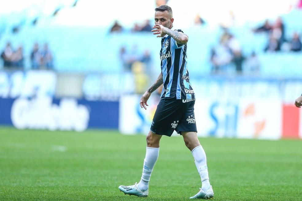 Luan é o maior artilheiro da Arena — Foto: Lucas Uebel / Grêmio, DVG