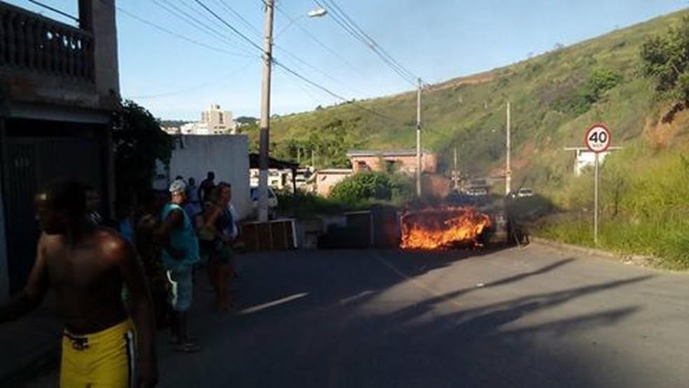 -  Manifestação contra falta d  39;água em Juiz de Fora  Foto: Luiz Carlos Pardal/Arquivo Pessoal